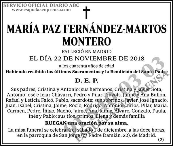 María Paz Fernández-Martos Montero